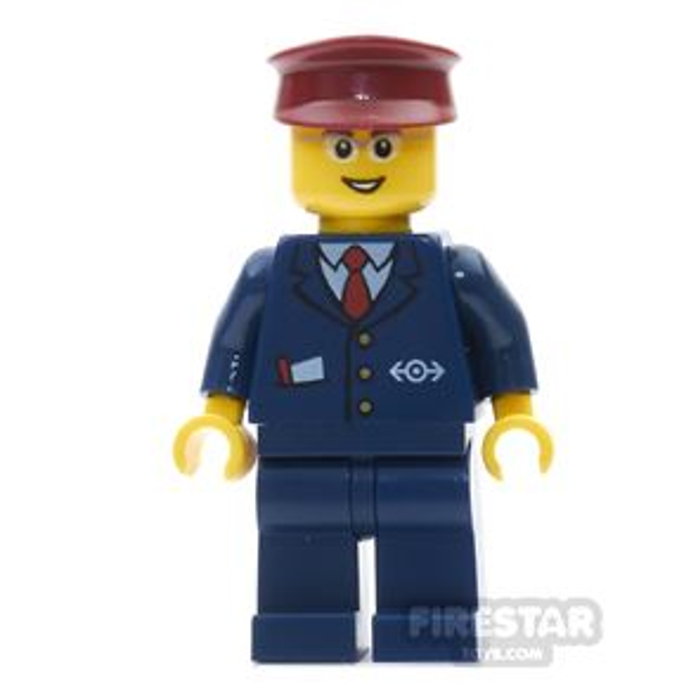 LEGO City Mini Figure - Train Worker - Steward