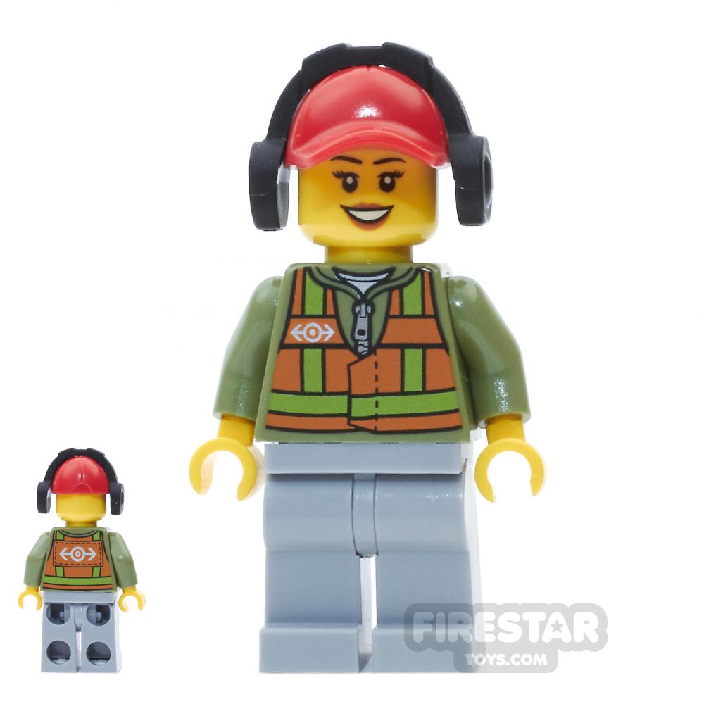LEGO City Mini Figure - Light Orange Safety Vest