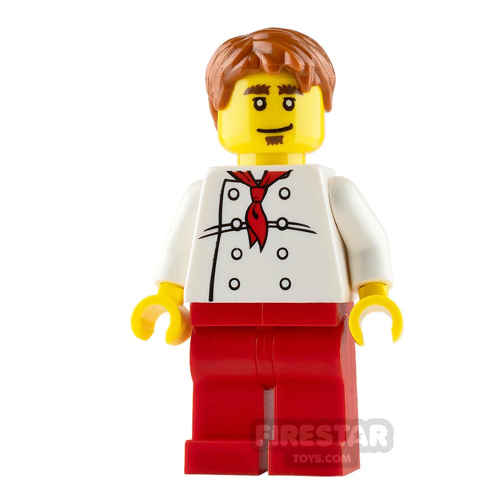 LEGO City Mini Figure - Chef - White Torso with 8 Buttons