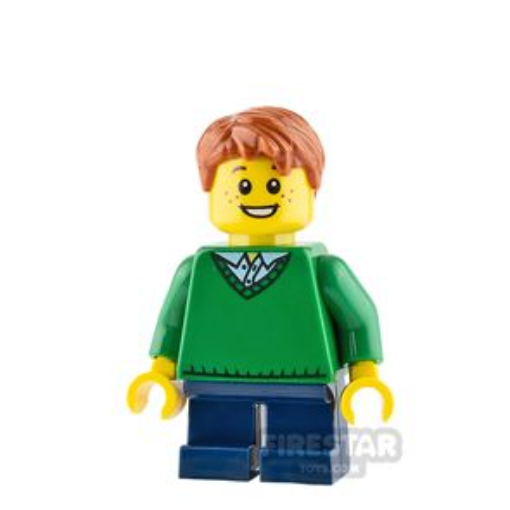 LEGO City Mini Figure - Boy with Green Sweater