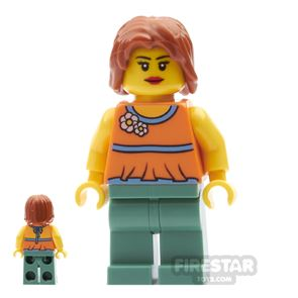 LEGO City Mini Figure - Halter Top with Flowers