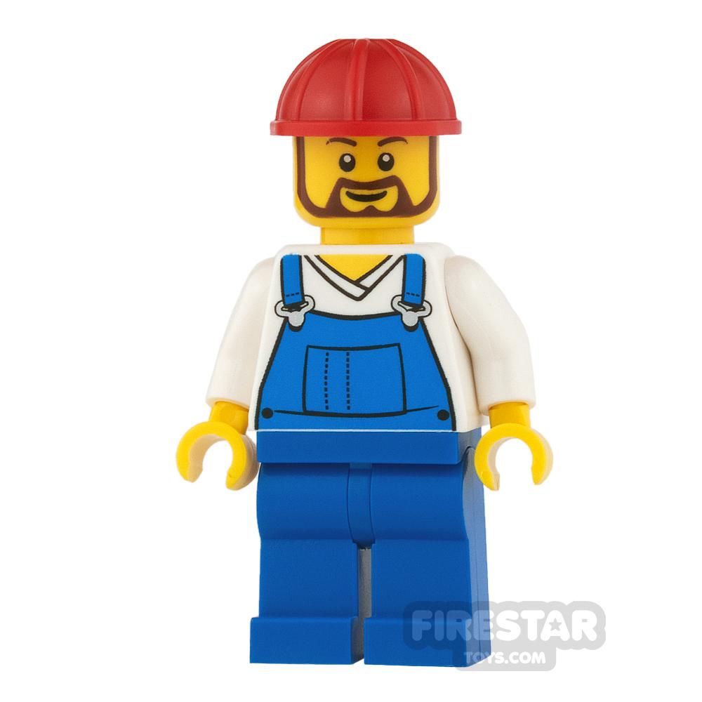 LEGO City Mini Figure - Blue Overalls and Beard