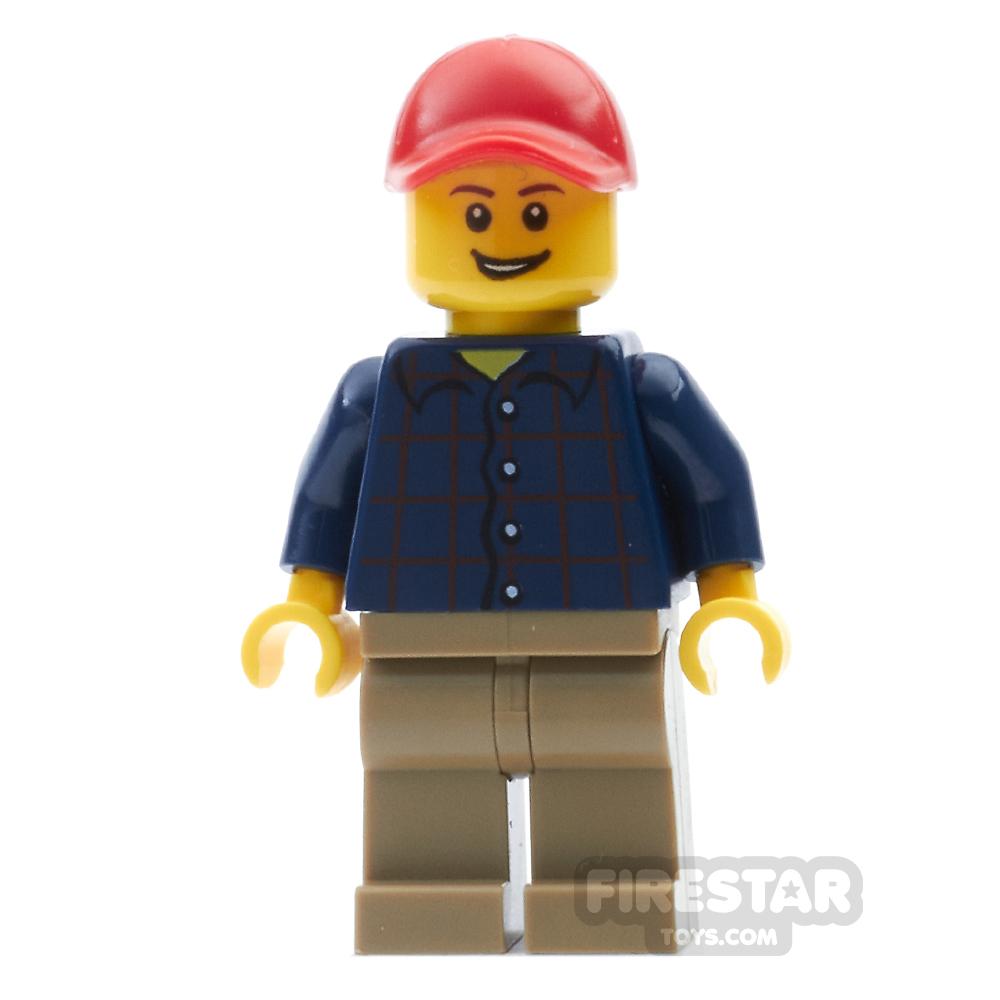 LEGO City Mini Figure - Plaid Shirt