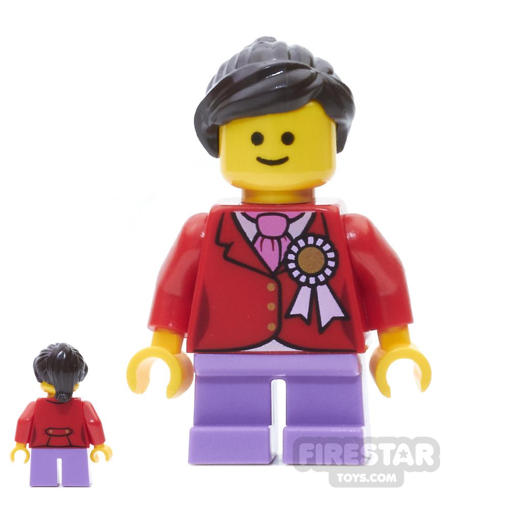 LEGO City Mini Figure - Child Red Jacket with Ribbon