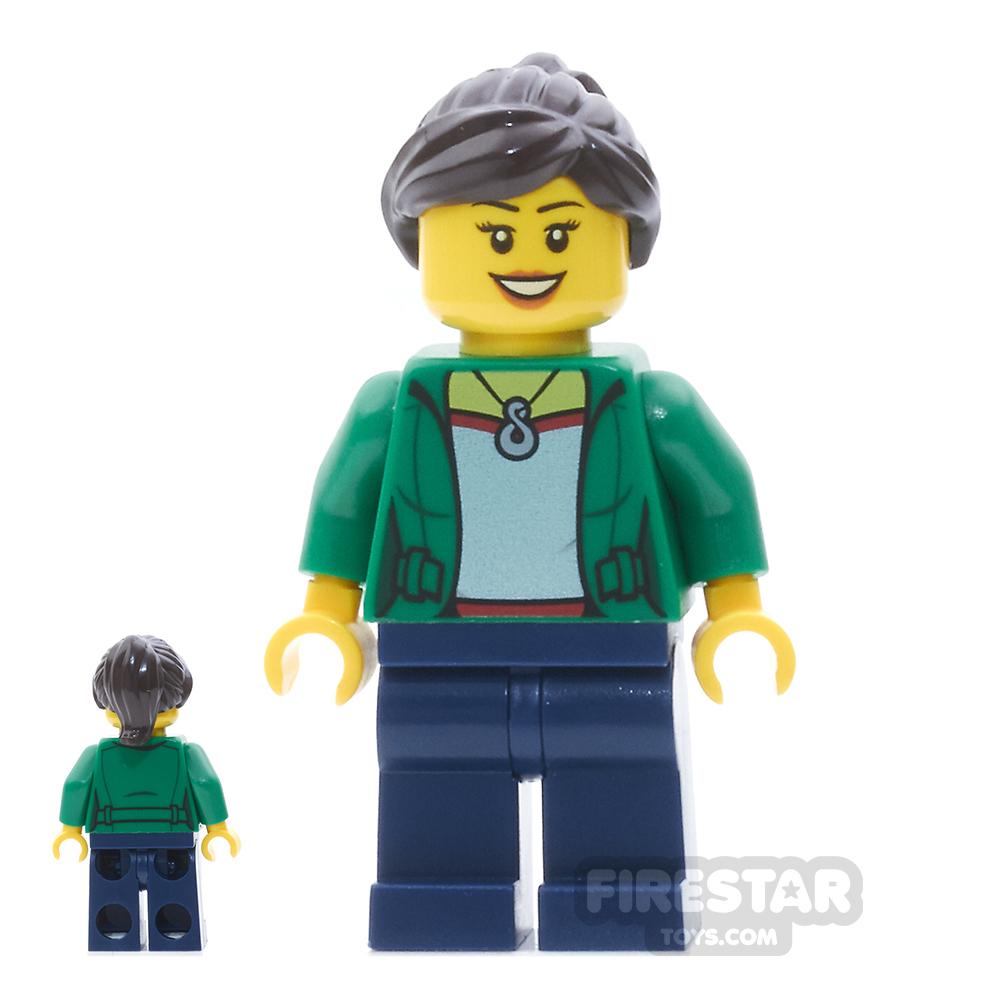 LEGO City Mini Figure - Camper - Female, Dark Blue Legs