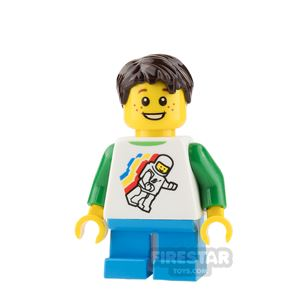 LEGO City Mini Figure - Boy with Classic Space Top