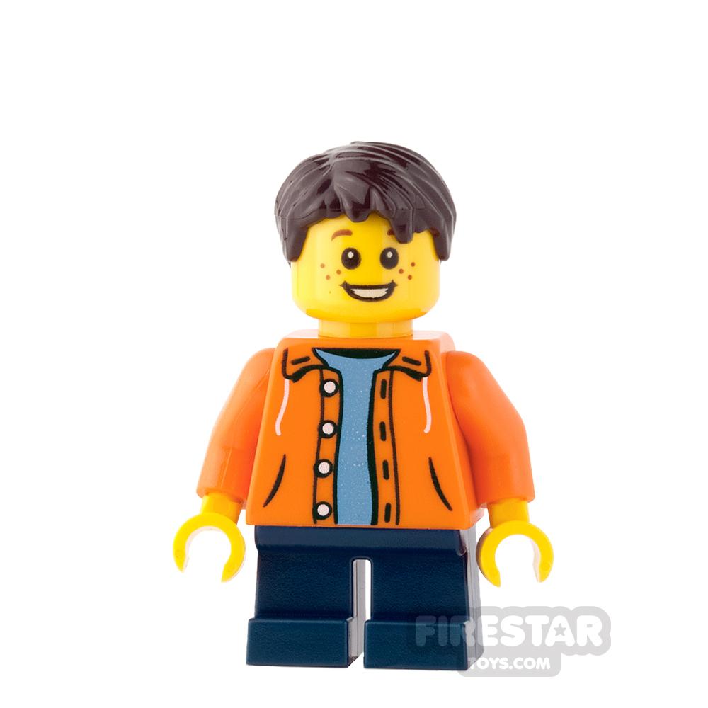 LEGO City Mini Figure - Orange Jacket and Freckles