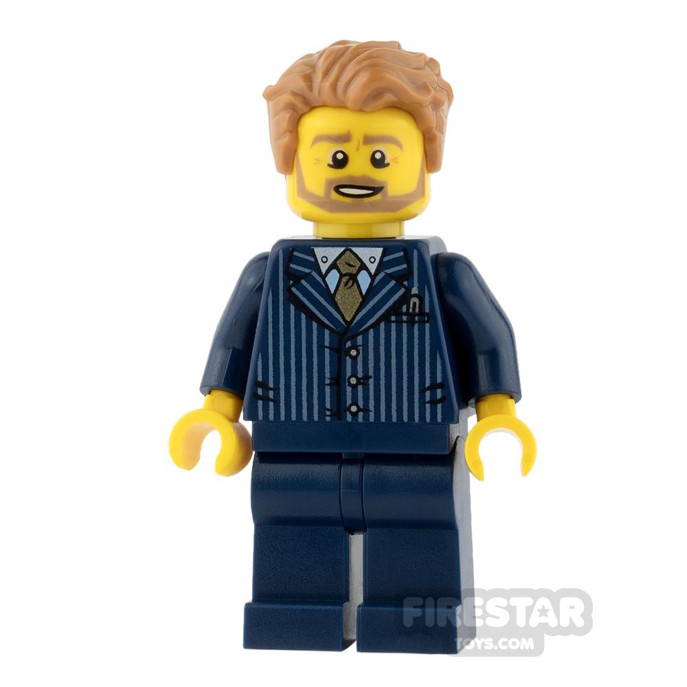 LEGO City Mini Figure - Businessman - Pinstripe Jacket