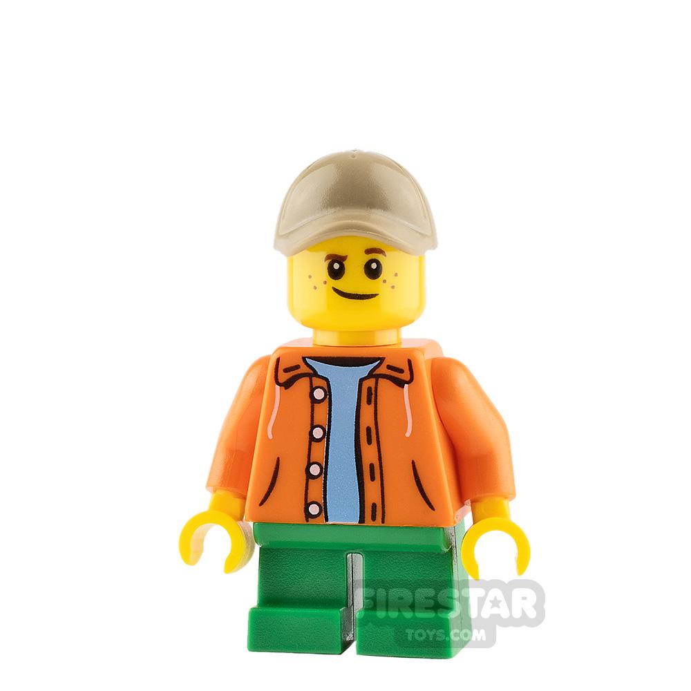 Lego City Minifigure Orange Jacket with Hood