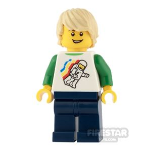 LEGO City Mini Figure - Space Top and Tousled Tan Hair