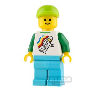 LEGO City Mini Figure - Classic Space Top and Lime Cap