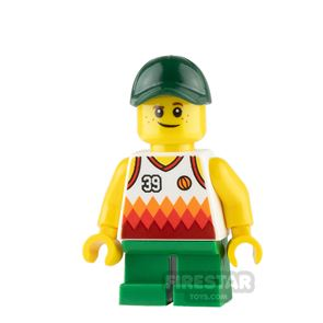 LEGO City Mini Figure - Boy with Jersey and Short Green legs