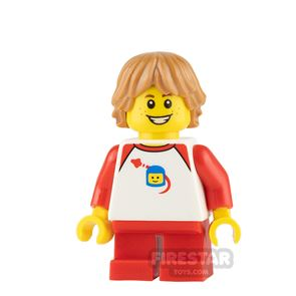 LEGO City Mini Figure - Boy with White Classic Space Shirt
