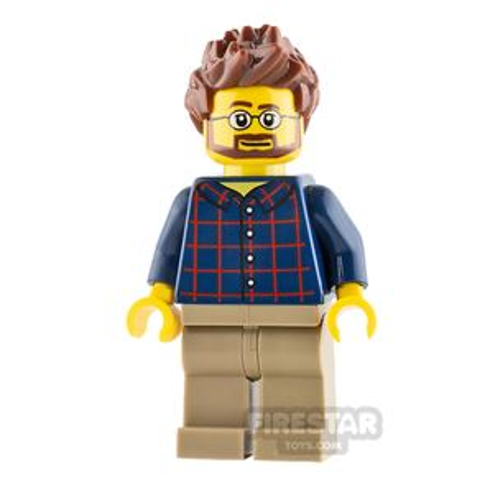 LEGO City Minifigure Gardener with Brown Beard