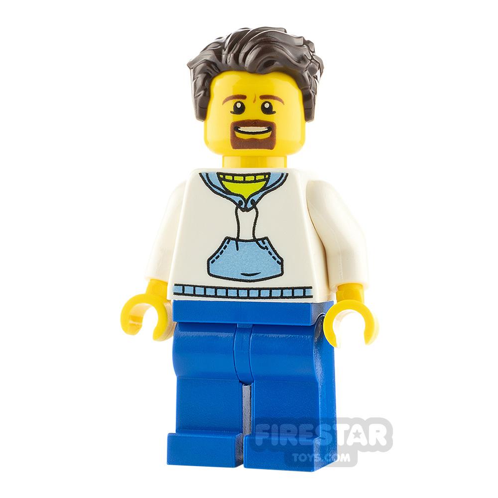 LEGO City Minifigure White Hoodie