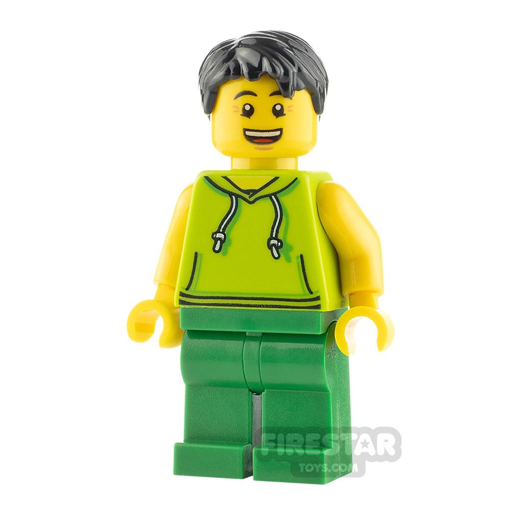 LEGO City Minifigure Lime Hoodie