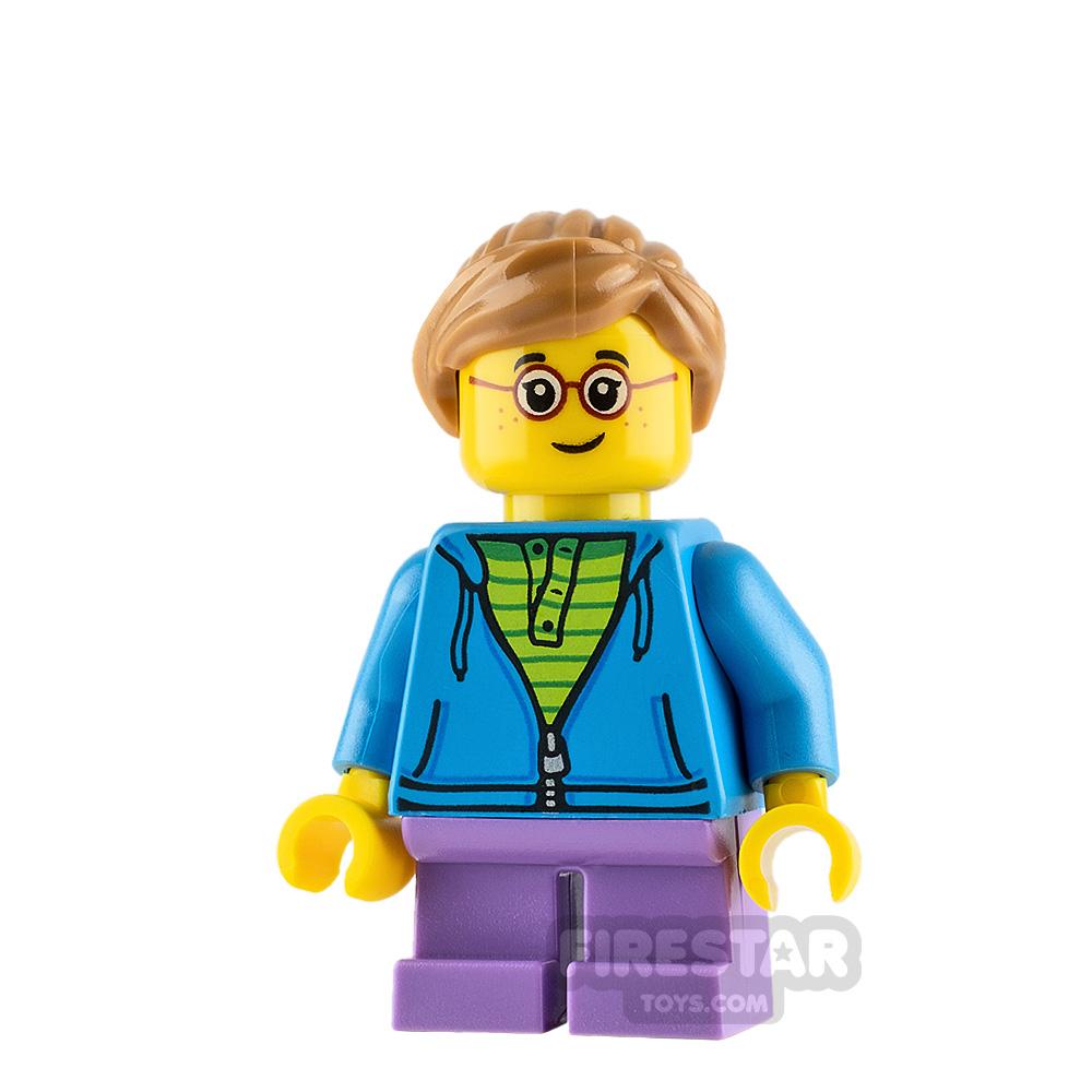 LEGO City Minifigure Dark Azure Hoodie