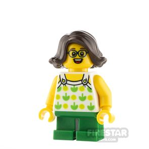 LEGO City Girl with Green Apples Top