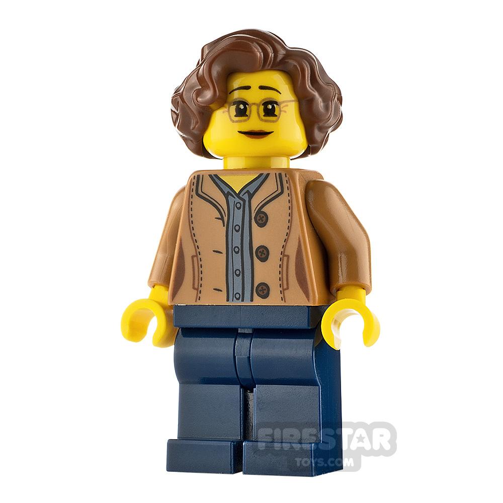 LEGO City Minifgure Female Jacket with Shirt