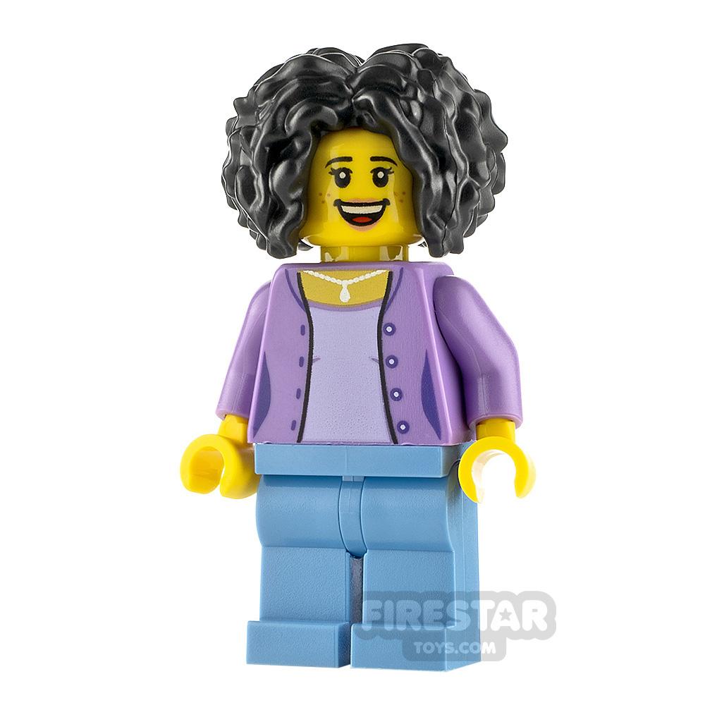 LEGO City Minfigure Female Bushy Black Hair