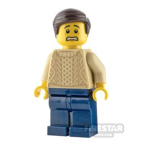 LEGO City Minfigure Man with Knit Sweater