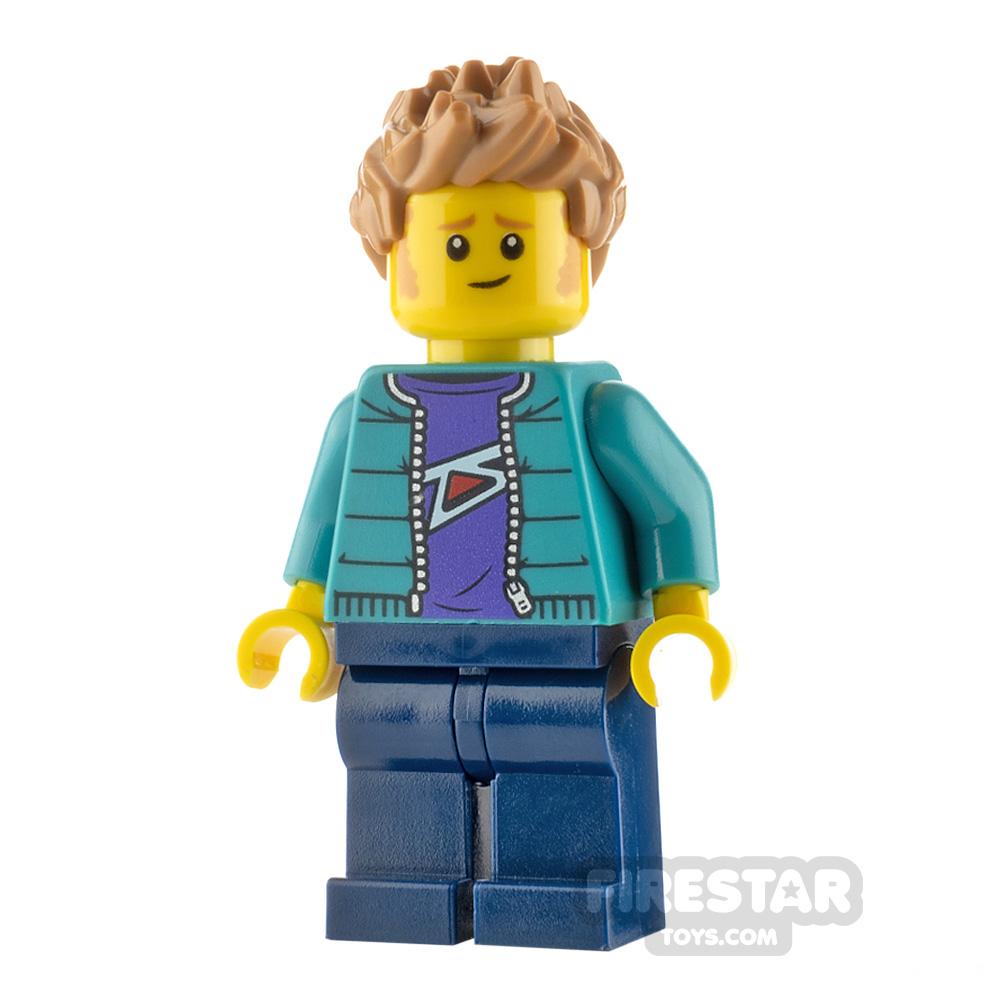 LEGO City Minfigure Man with Turquoise Jacket