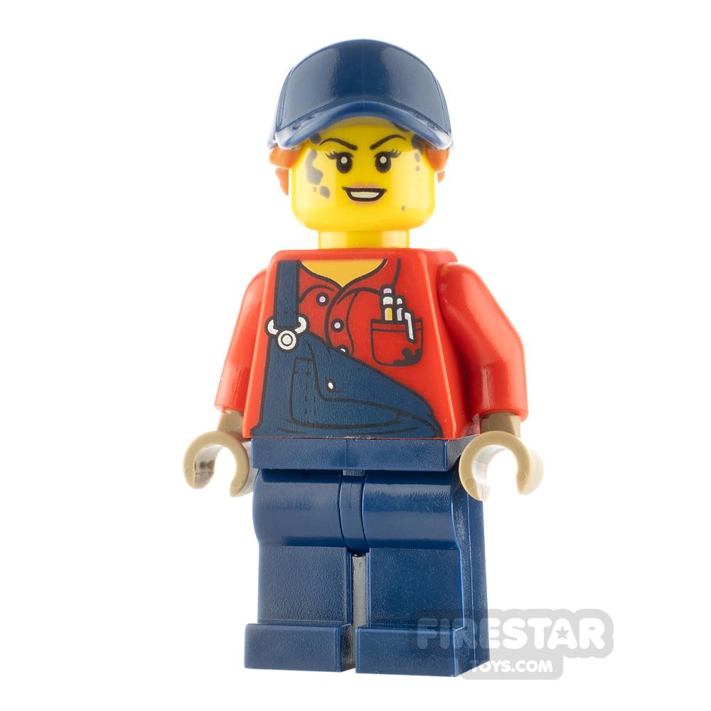 LEGO City Minifigure Mechanic with Dark Blue Overalls