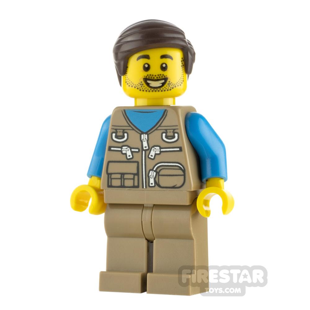 LEGO City Minifigure Male with Dark Tan Vest
