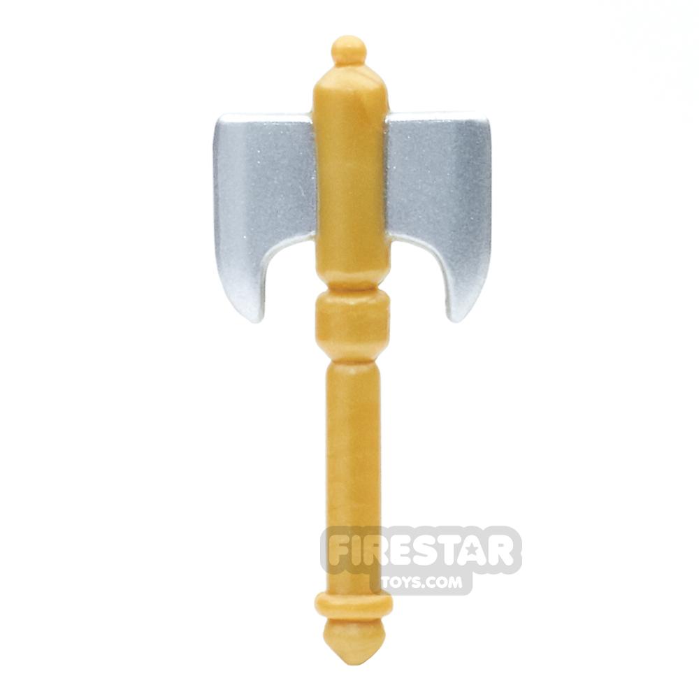 BrickForge - Battle Axe - Silver Blade Gold Handle