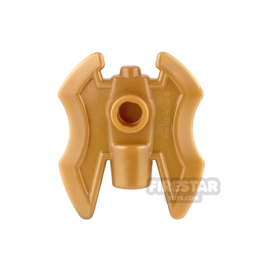 LEGO - Axe Head - Twin Blade - Pearl Gold