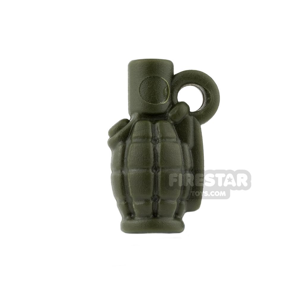 BrickWarriors - Allies Grenade - Army Green