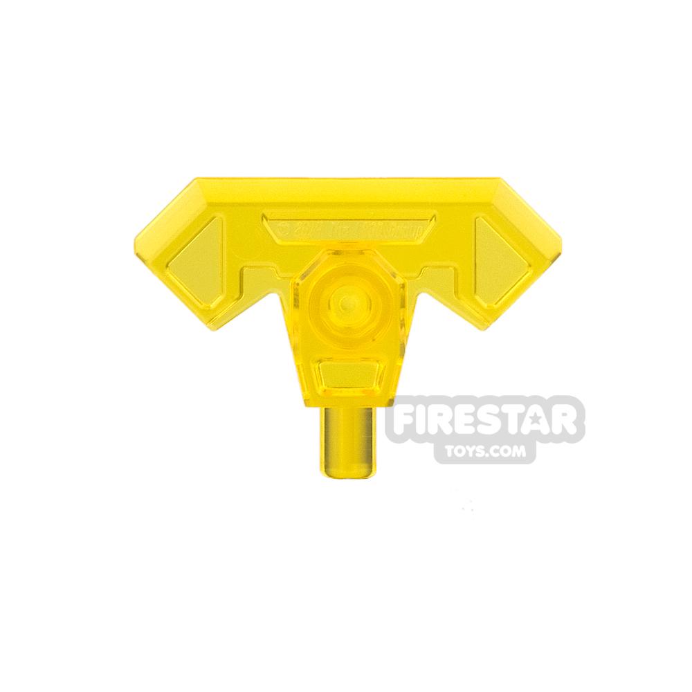 LEGO - Axe Head with Bar - Trans Yellow