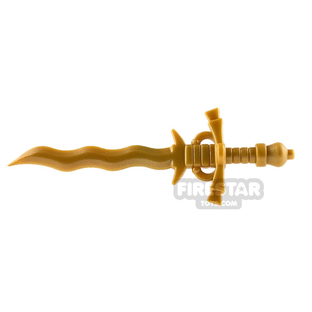 BrickWarriors - Flamberge Sword - Pearl Gold