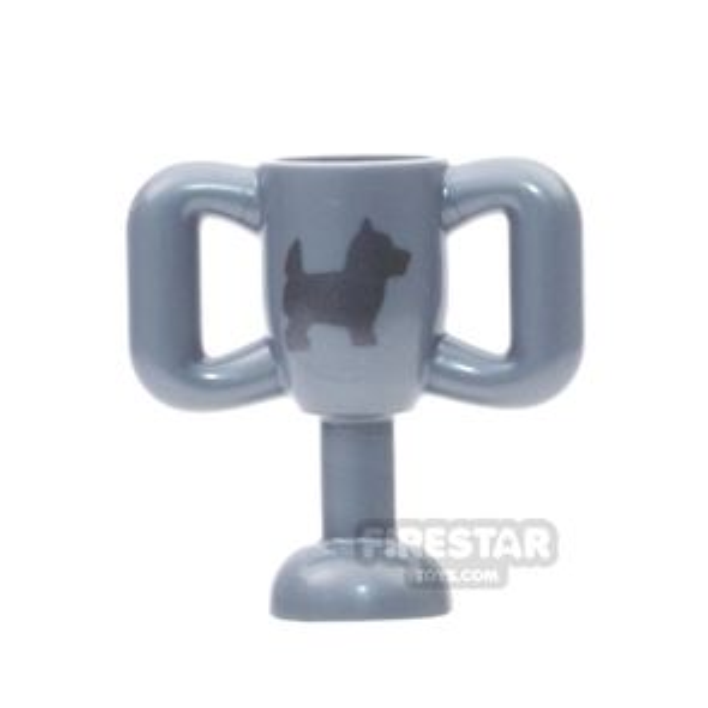 LEGO - Trophy - Flat Silver With Dog Print