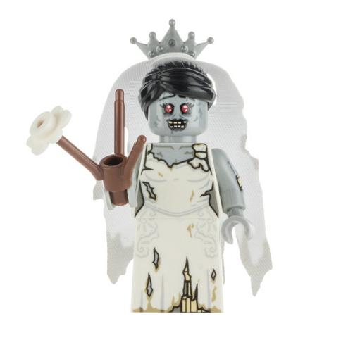 Custom Design Minifigure Zombie Bride