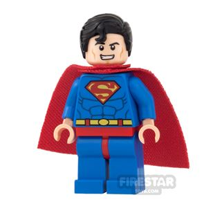 LEGO Super Heroes Mini Figure - Superman - Red Eyes and Soft Cape